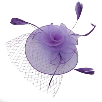 Newly Fashion Women Fascinator Elastic Net Headdress Party Bridal Hair Accessories Vintage French Lady Veiling Cocktail Hat headpiece