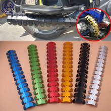 Universal Fit 60.5CM Motorcycle Exhaust Muffler Pipe Leg Protector Heat Shield Cover 6colors