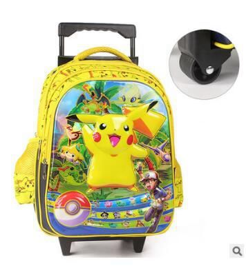 kids wheeled Backpack for school Cartoon kids Rolling backpack for school Kids Travel Trolley luggage school Bags Trolley Case