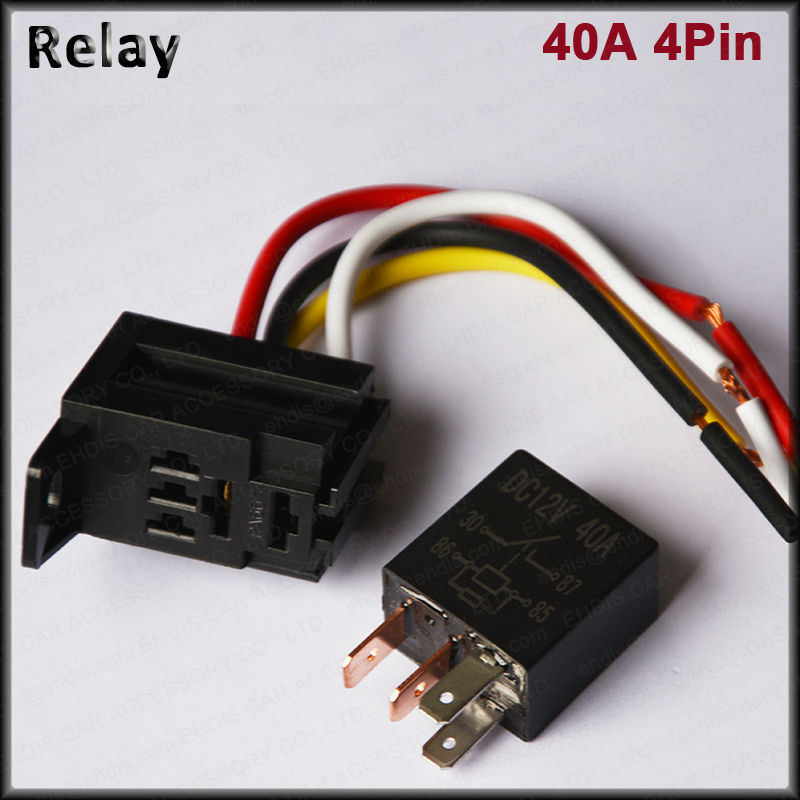 plastic car relays 12V 24V 40A 4-Pin Wires automotive fuse Cable Harness Connector SPST Heavy Duty Standard Relay : automotive wiring harness standards - yogabreezes.com