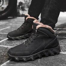 BACKCAMEL Snow Boots Men Winter Outdoor Warm Plus Velvet Thick Large Size Cotton Shoes Waterproof Non-slip Men's Vulcanize Shoes