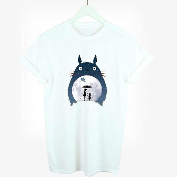 totoro t shirt women kawaii t-shirt woman cute tshirt girl t shirts  japanese anime tee harajuku shirt tshirts cotton fe2ecc6480ac