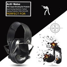 Anti-noise Sport looking Electronic Earmuff Shooting Ear Protection Tactical Hearing Protector Earmuffs headphone free delivery