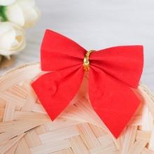 12 pcs/lot Pretty Bow Tie Christmas Tree Ornaments Christmas Pendant Tree Decoration