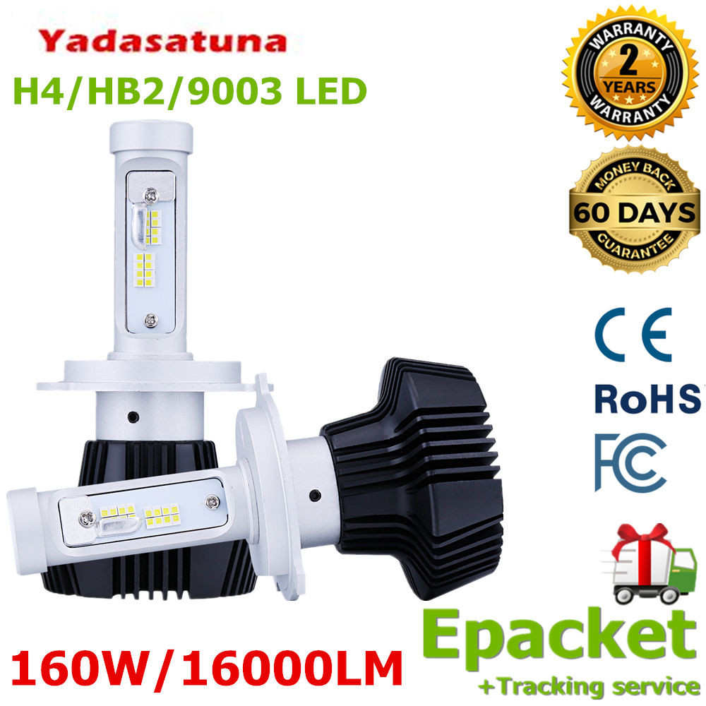 2x Samsung фишки! 160 w/pair 16000lm H4 Hi/lo двухлучевой LED 9003 HB2 фар DRL Туман комплект лампы 6000 К/ 3000 К/10000 К все в одном
