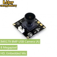 IMX179 8MP USB Camera, Ultra High Definition, Embedded Mic, Driver Free