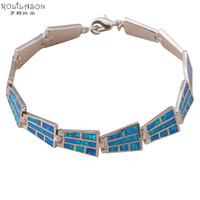 Vintage Style Bracelets Wholesale Retail Special Blue Fire Opal 925 Silver Fashion Jewelry Party Gifts OB027