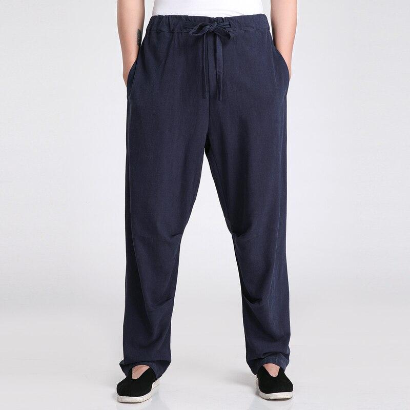 Neue Ankunft Chinesischen Männer Kung Fu Hose Hohe Qualität Baumwolle Leinen Hosen Casual Mittleren Taillenhosen Größe M L Xl Xxl Xxxl 2601-3 Spezieller Sommer Sale