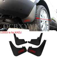 ABS 4pcs/lot Car Styling Mud Flaps Splash Guard Mudguard Mudflaps Fenders Perfector External Decoration For Renualt Kadjar 2016