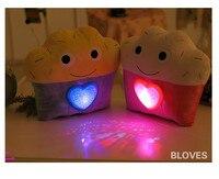 クリエイティブ光る発光ledライト投影プロジェクター枕クッションぬいぐるみナイトライトスター人形赤ちゃん子供ギフ