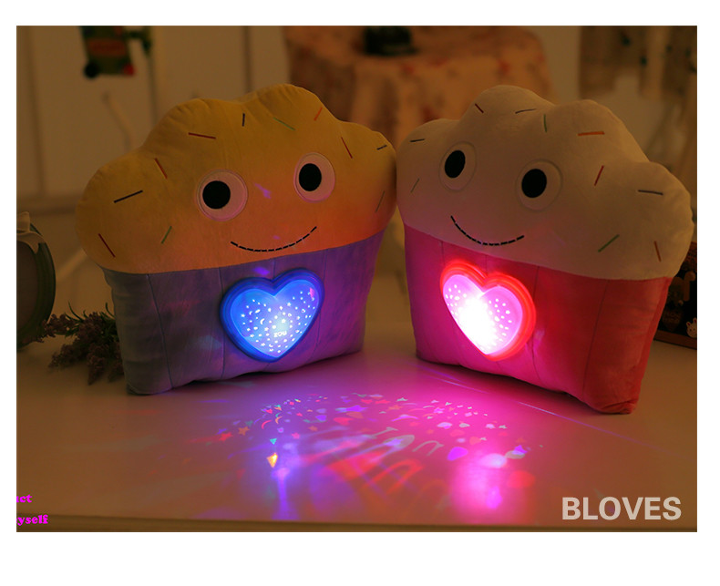 Creative Glowing Luminous LED light projection Projector Pillow Cushion Plush Toy Night Light Stars Doll Baby Children Gift creative mushroom kids gift rainbow colorful led night light boon glowing led lamp with removable balls children sleeping toy