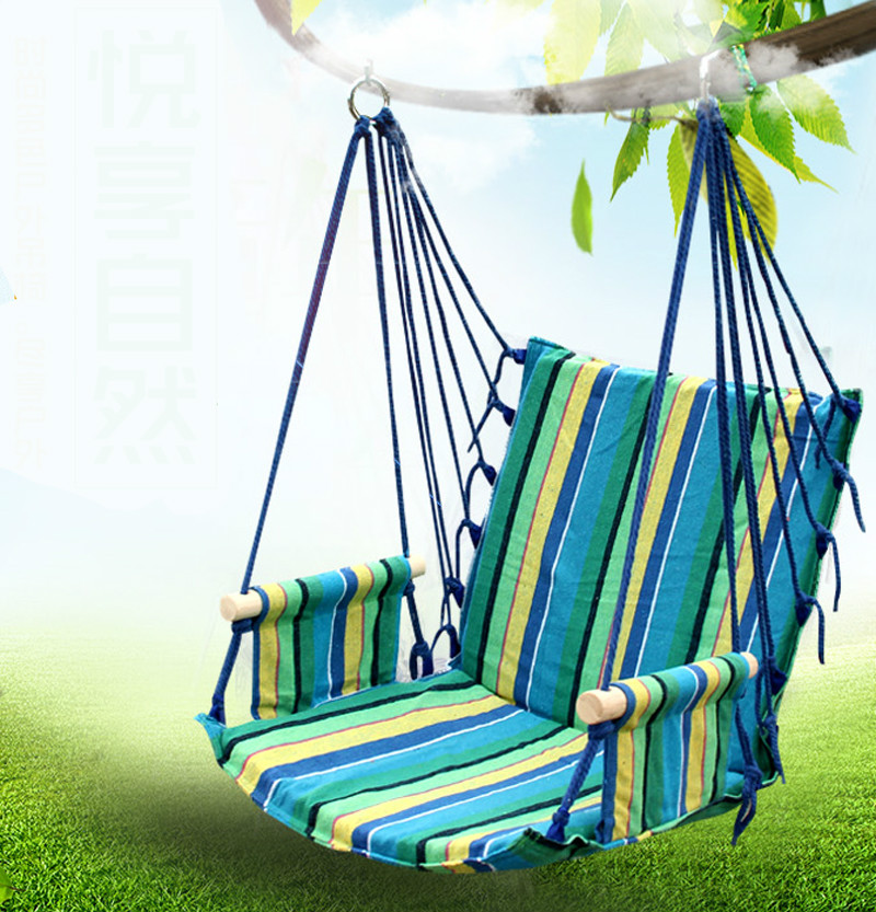 swing hammock chair indoor lumbar support pillow for office hot sale portable outdoor breathable comfortable children adult ...