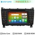 4 Г LTE Окта основные Android 6.0 Dvd-плеер Автомобиля для Mercedes Benz C Class W203 C200 C230 C320 CLK200 CLK350 CLK500 GPS Радио Стерео