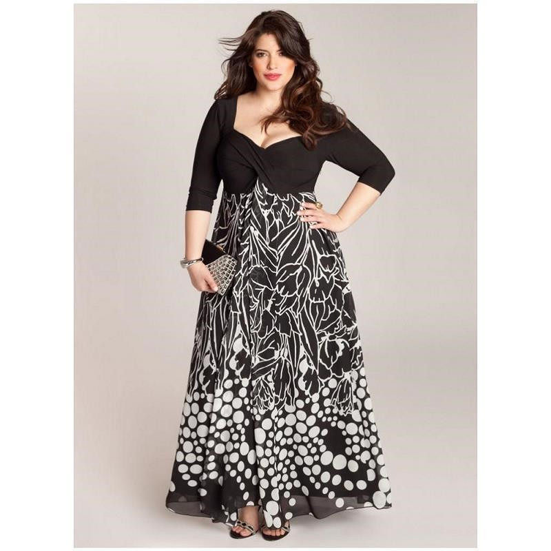 2019 Plus Size Print V-Neck Fashion Women Summer Dress Half Sleeve Party  Evening Maxi d902b54ebb94