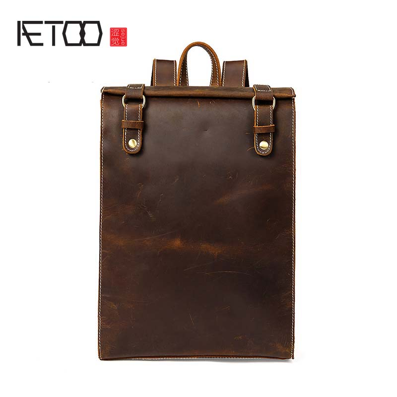 AETOO   2018 The latest mens first layer leather shoulder bag to simple style college wind backpack hot mens bag wholesaleAETOO   2018 The latest mens first layer leather shoulder bag to simple style college wind backpack hot mens bag wholesale