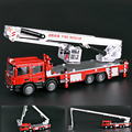 Alloy Fire Engine Fire Truck 1:50 Ladder 3 Sections Telescopic Ladder Engine Truck Diecast Model Hobbies Classic Toys Crafts