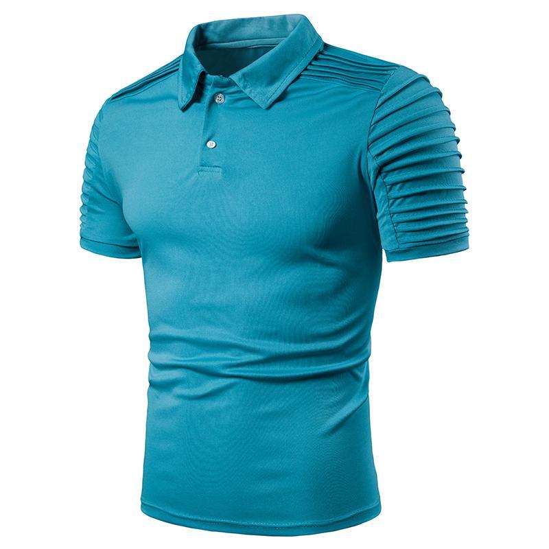 Men   Polo   Shirt Short sleeve Men's Clothing Tops   Polo   Shirt Men Lapel collar Fashion Tees Solid color Summer New