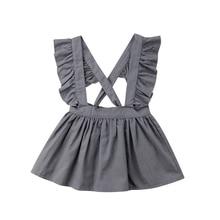 Pudcoco 2018 Kid Baby Dresses For Girls Summer Ruffles Overa