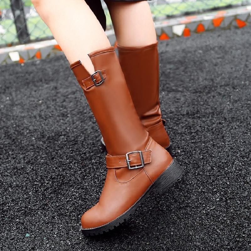 winter boots women australian mid-calf boots female red boots short plush slip-on plus size 44 shoes woman free shipping &3127 rome style cool designed woman motorcycle boots winter autumn women flats boots top quality mid calf boots shoes free shipping