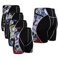 Shorts de Compresión de Los Hombres lobo de Impresión de Secado rápido Absorción Transpirable pantalones Flacos Pantalones Cortos MMA