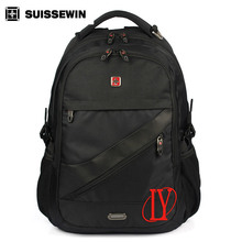 Suissewin Fashion 15.6 inch laptop backpack Waterproof Casual notebook bag Female Mochila Orthopedic Backpack Male(China)