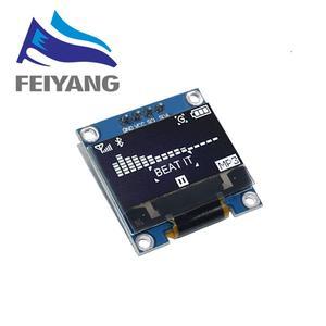 4pin 7pin الأبيض/الأزرق/الأصفر الأزرق اللون 0.96 بوصة 128X64 OLED وحدة عرض لاردوينو 0.96