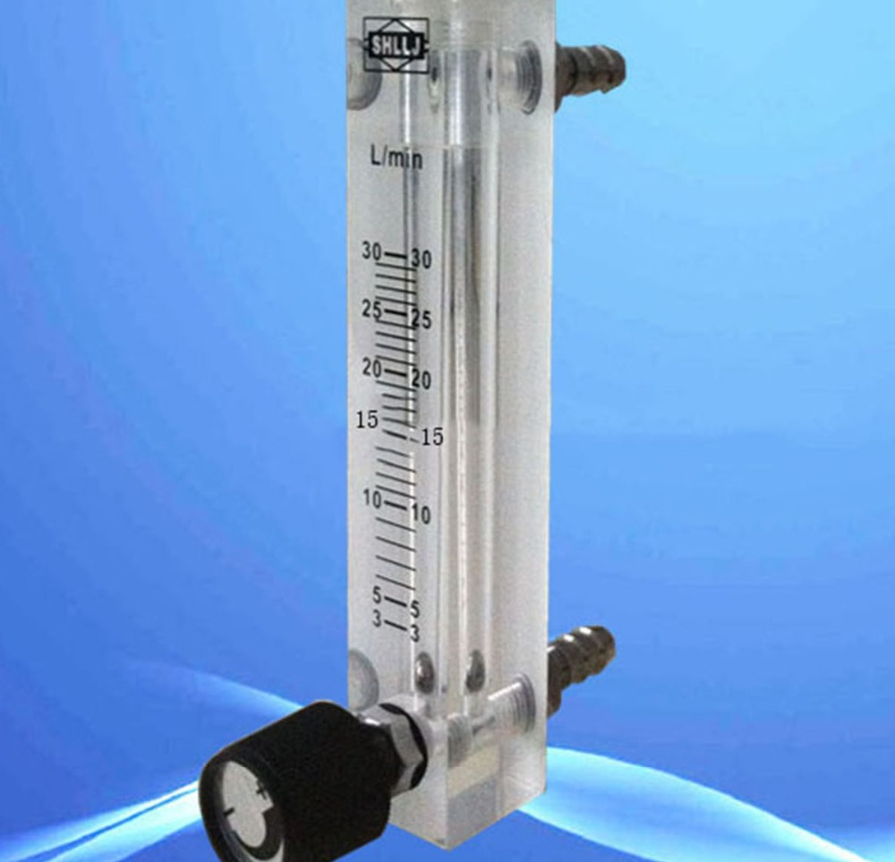 ФОТО  LZQ-7(3-30)LPM air flow meter (H=120mm gas flow meter)with control valve for Oxygen conectrator ,it can adjust flow