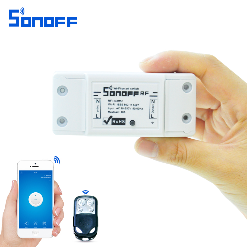 sonoff rf Smart Remote Control wifi light switch 220V /10A/2200w 433Mhz with Timing for ios