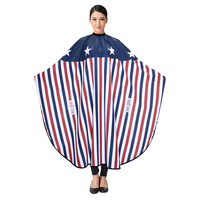 Stars Stripes Hairdressing Cape Exclusive Elegant Trend Hair Apron Customer Gown Cloth Suit Hair Cut Dye Perm Clothes Tool U1146
