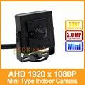 AHD Камеры Мини Тип HD Sony IMX322 1920x1080 P 2.0MP 3.7 мм Объектив Крытый Металла Камеры Безопасности CCTV Камеры