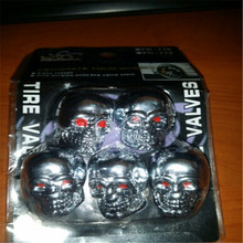 Cool High Quality 5pcs set CHROME Skull Head font b Air b font Valve Caps MOTORCYCLE