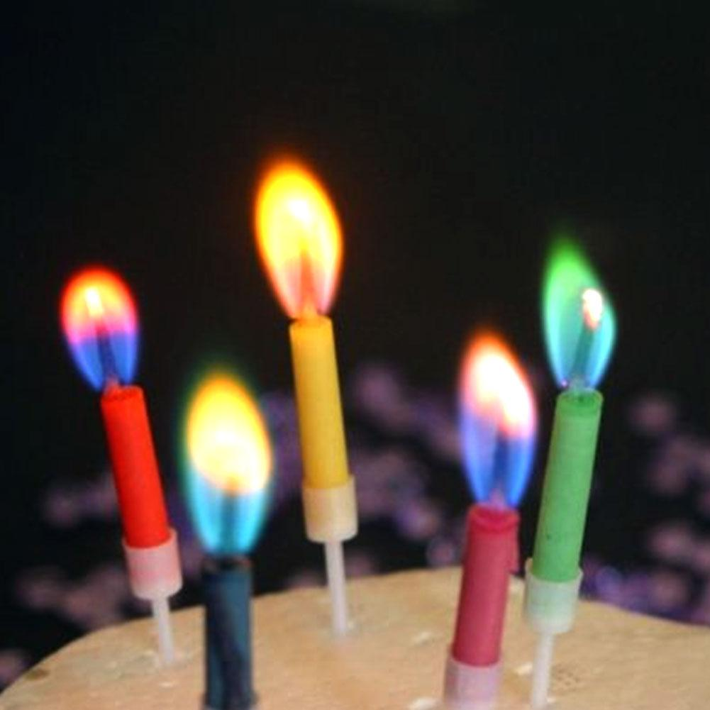 Colored Birthday Cake Candles 1