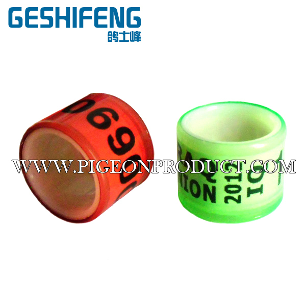 Free shipping racing pigeon plastic foot band ring homing bird ring band for sale