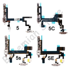 Power Flex For iPhone 4 4s 5 5s 5C SE Mute amp Volume Button Switch On Off Key Power Flex Cable With Small Metal Holder Parts cheap AiinAnt Apple iPhone Power Volume Buttons Apple iPhones Standby on off power flex cable Repair Phone Replacement Fast in Working Time