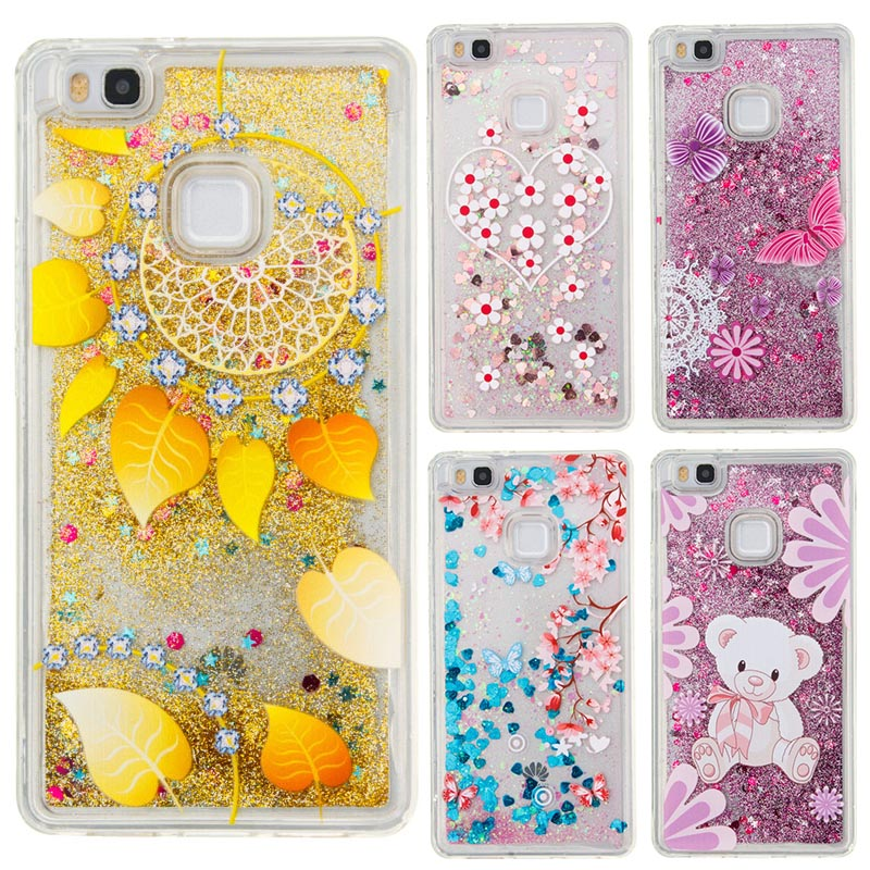 Bling Dynamic Star For Huawei P9 Lite Case Luxury Glitter Soft TPU Cover Cases For Huawei P9 Lite Case Cover Coque