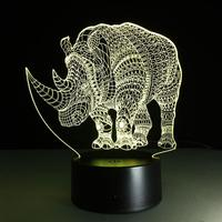 3D Optical Illusion LED Table Beside Night Light Remote Control USB Cable Battery Operated Desk Lamp