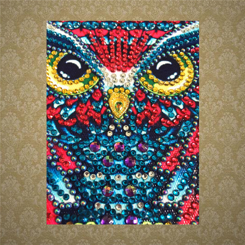 5D special owl wind chime diamond painting shaped diamond DIY embroidery animal home decoration 30x48 cm in Diamond Painting Cross Stitch from Home Garden