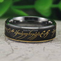 Cheap Price Free Shipping USA Canada Hot Selling 8MM Beveled The Lord Of Ring The LOTR