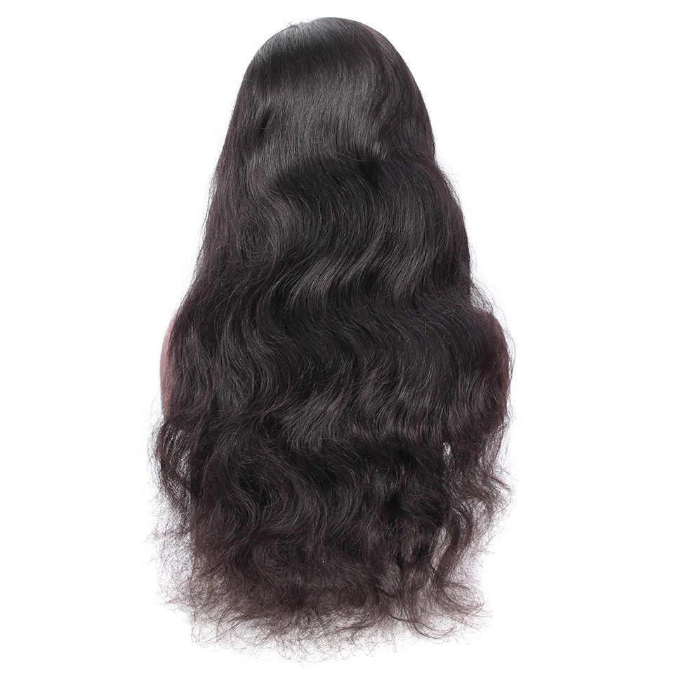 YVONNE ciało fala pełne koronkowe peruki ludzki włos z Baby włosy włosów brazylijski peruka z dziewiczych włosów naturalny kolor