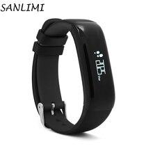 Sanlimi P1 SmartBand Montres Presión arterial Bluetooth браслет сердечного ритма Мониторы смарт-браслет Фитнес для Android IOS Телефон