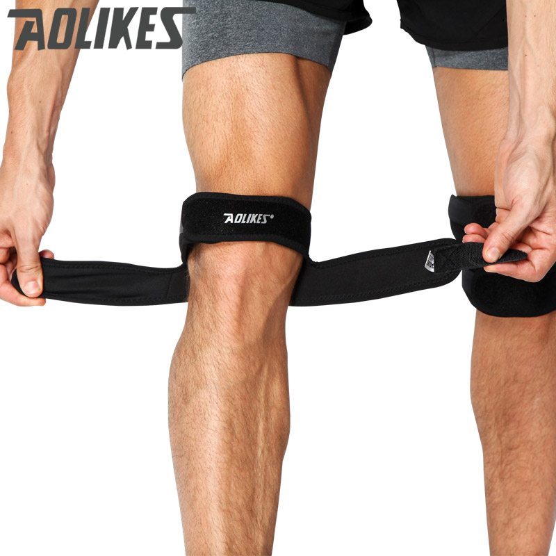 Aolikes 1PC Knee Support Patella Belt Elastic Bandage Sport Strap Knee Pads Protector Band Football running Fitness Knee brace