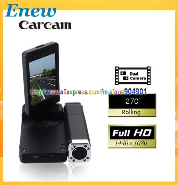 Free shipping by HK POST Full HD X5000 Car DVR recorder Q8 Dual Cameras Dual lens 1920 x 1080P X5000 carcam Wholesale and Retail