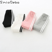 цена New Toddler Baby Girls Kids Skinny Pants Cute Striped Print Stretchy Warm Leggings Kids Autumn Keep Warm Newborn Sport Boys Pant онлайн в 2017 году