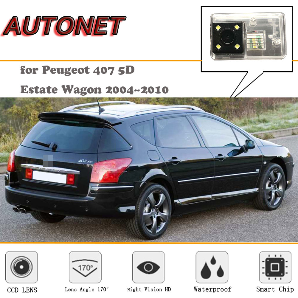 AUTONET Backup Rear View Camera For Peugeot 407 SW 2004~2010/Night Vision/license Plate Camera