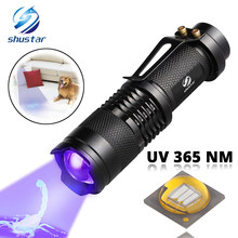 UV Flashlight Ultra Violet Light With Zoom Function Mini UV Black Light Pet Urine Stains Detector Scorpion Use AA/14500 battery(China)