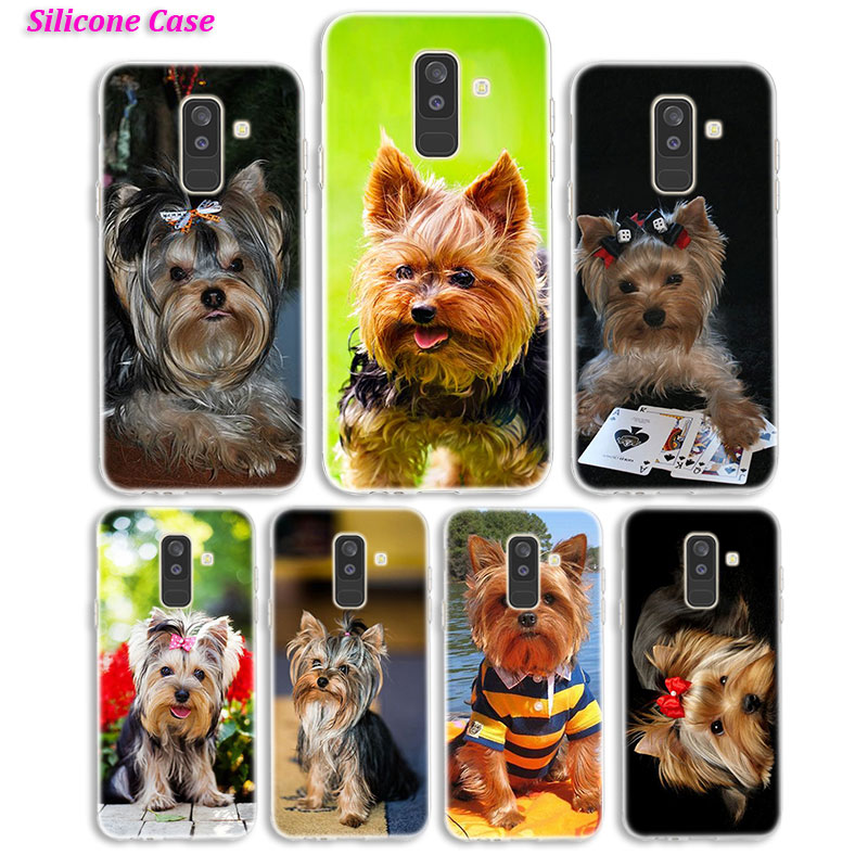Silicone <font><b>Phone</b></font> <font><b>Case</b></font> Puppy Yorkshire Terrier <font><b>Dog</b></font> for <font><b>Samsung</b></font> <font><b>Galaxy</b></font> A8S A6S A9 A8 Star A7 A6 A5 <font><b>A3</b></font> Plus 2018 <font><b>2017</b></font> 2016 Cover image