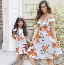 off shoulder mother daughter dress mommy and me clothes family look matching outfits mom and daughter floral dresses clothing