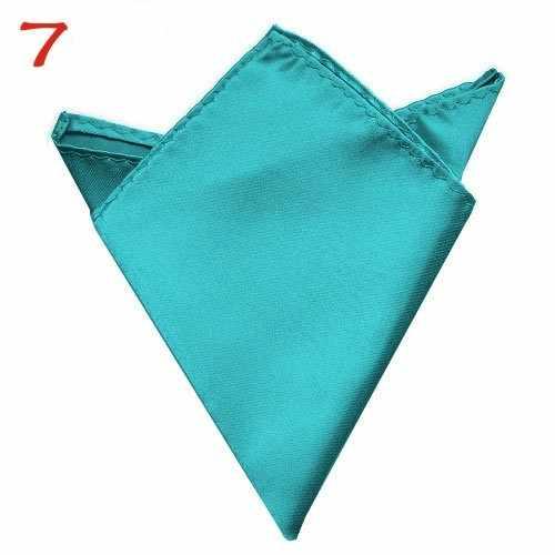 Мужской модный мужской Карманный платок квадратное полотенце аксессуары твердый квадратный платок белый черный желтый