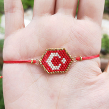 FAIRYWOO Miyuki Turkey Flag Bracelet Red Rope Adjustable Power Charm Moon Star Pendant Bracelets For Lucky Woman Kids Presents