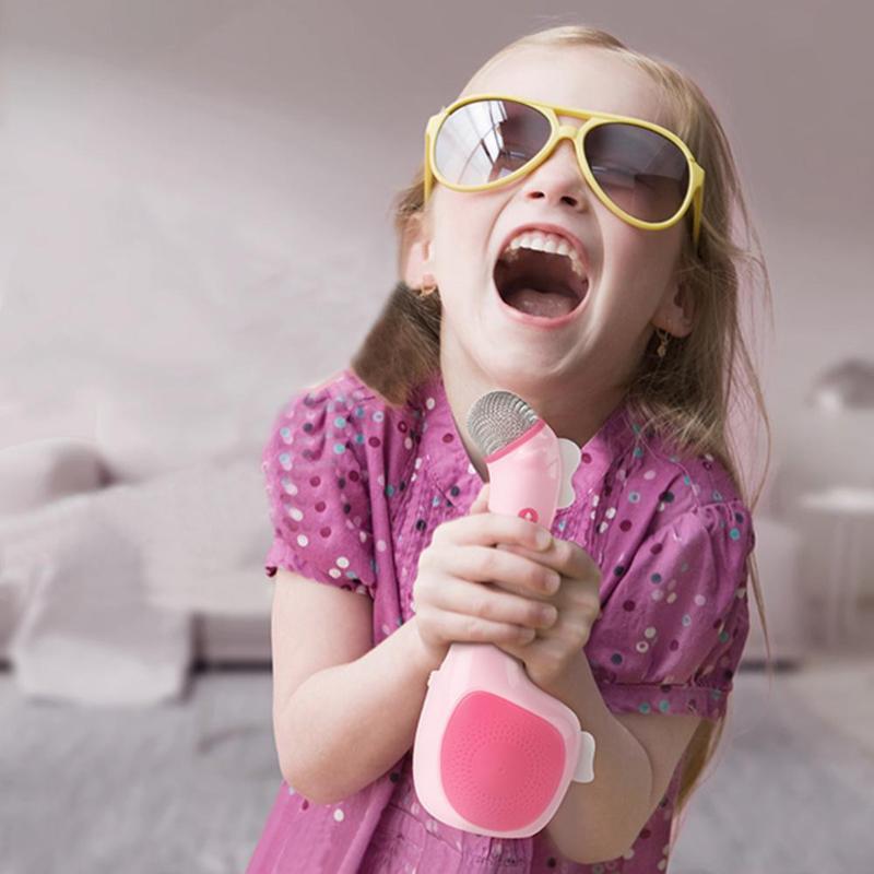 Children Microphone Handheld Karaoke Microphone USB KTV Player Mic Speaker Kids Toys For Singing Toy Music Playing children microphone handheld karaoke microphone usb ktv player mic speaker kids toys for singing toy music playing